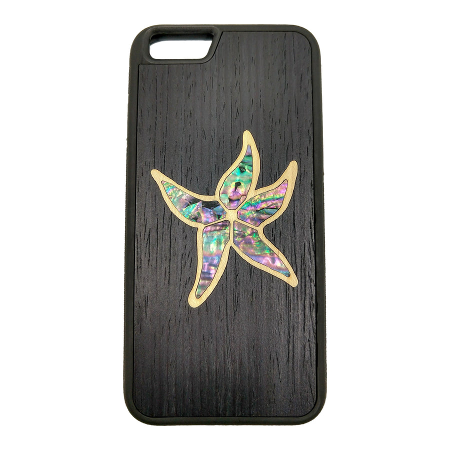 Carved Phone Cases iPhone 6 / Black Sea Star Inlay Case For iPhone