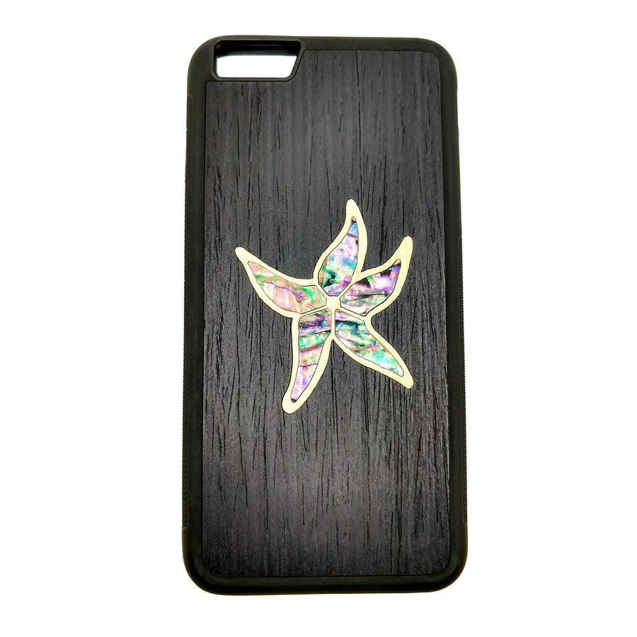 Carved Phone Cases iPhone 6 Plus / Black Sea Star Inlay Case For iPhone