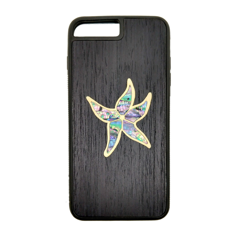 Carved Phone Cases iPhone 7 Plus / Black Sea Star Inlay Case For iPhone