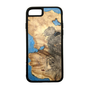 Carved Phone Cases Satellite Blue Case For iPhone