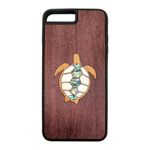 Carved Phone Cases Seaside Turtle Inlay Case For iPhone