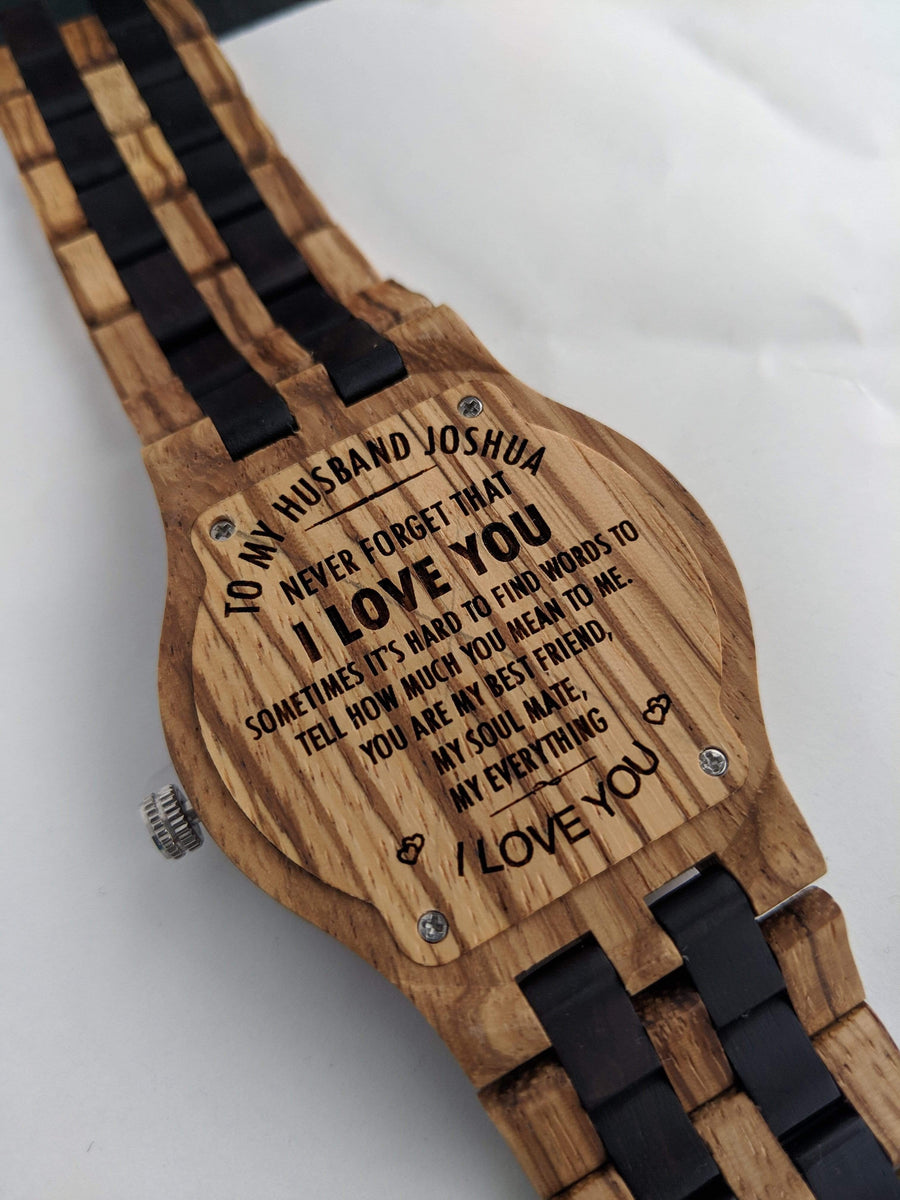 The Dusty Saw Wooden Watch Black Men's Wooden Watch Zebra Black All Wood Straps Chronometer 45mm - Gracil
