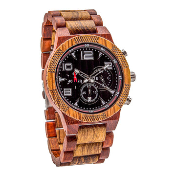 Wooden Watch Red | Perfecto - Dusty Saw