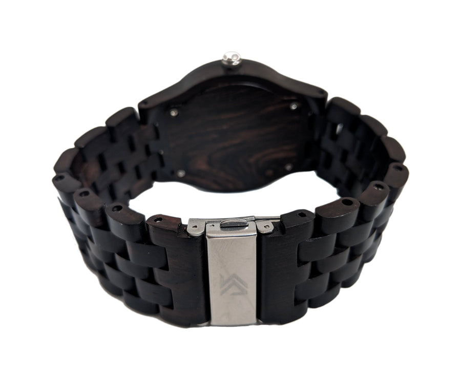 The Dusty Saw Wooden Watch Wooden Watch Chrono Black Wood - Gracil