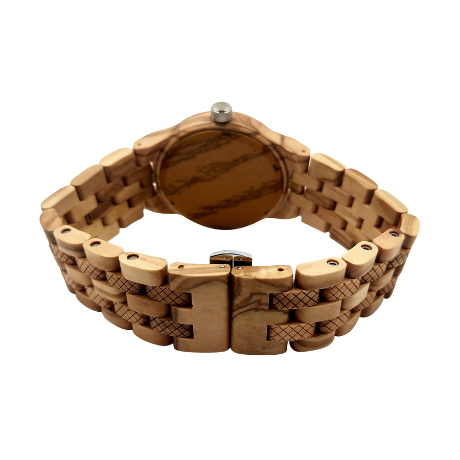 The Dusty Saw Wooden Watch Wooden Watch Olive Mechanical - Confidente