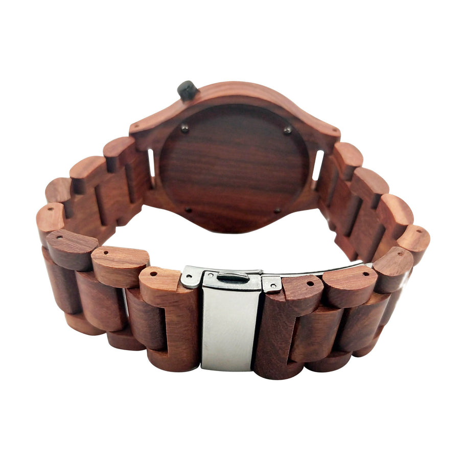 The Dusty Saw Wooden Watch Wooden Watch Red Sandalwood - Bonito
