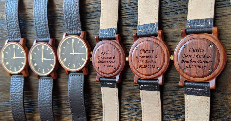 The Dusty Saw Wooden Watch Wooden Watch Red Sandalwood Leather  - Arce