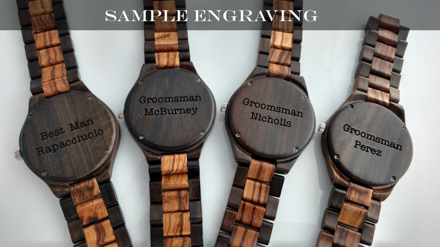 The Dusty Saw Wooden Watch Wooden Watch Zebra Wood - Creativo