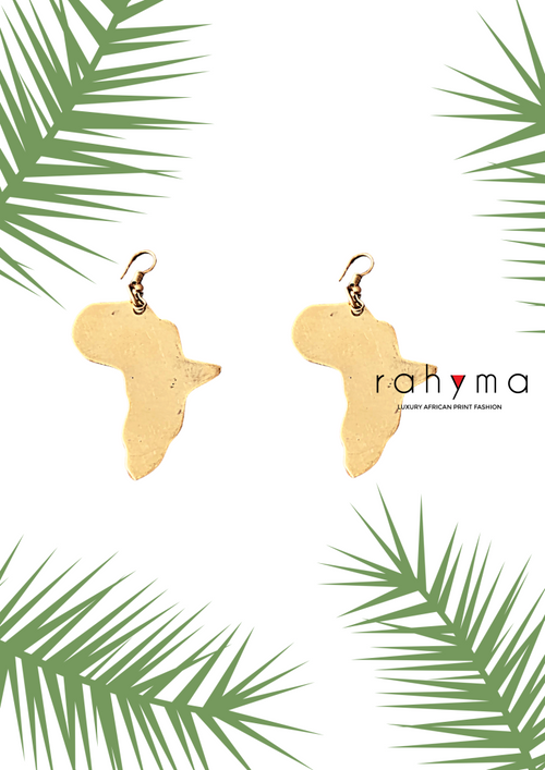 Africa Brass Earrings - Rahyma