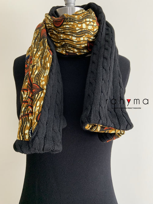African Print Winter scarf-Tami - Rahyma