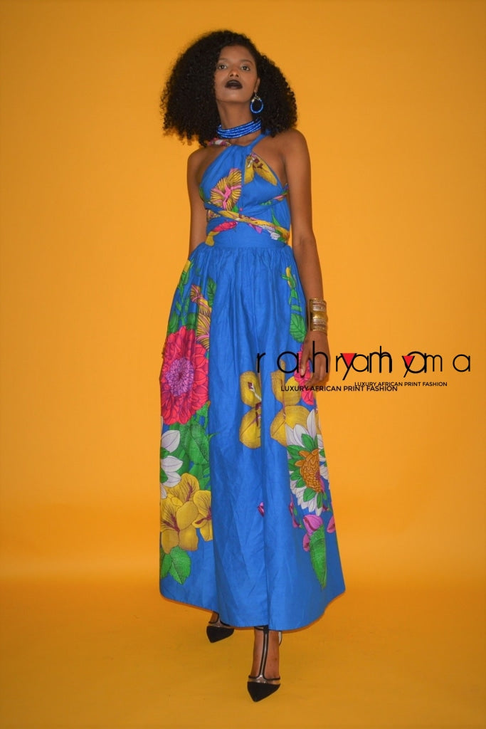 Blue Flower Infinity  Maxi Dress - Rahyma
