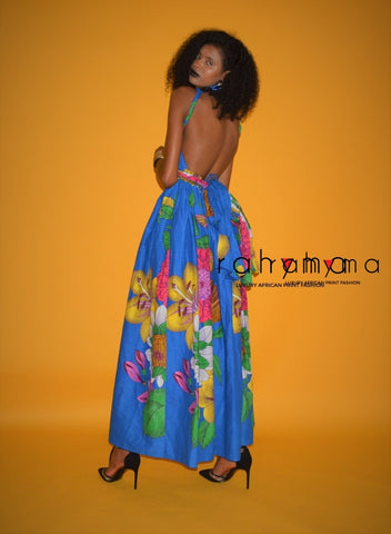 Dashiki pleated harem Skirt