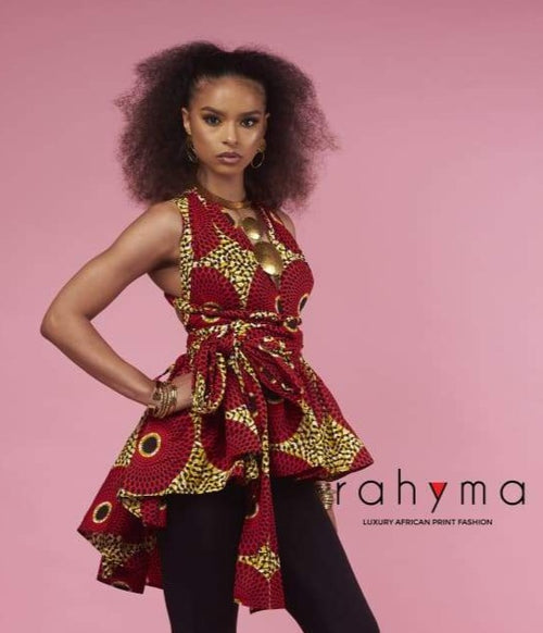 Circle infinity wrap blouse - Rahyma