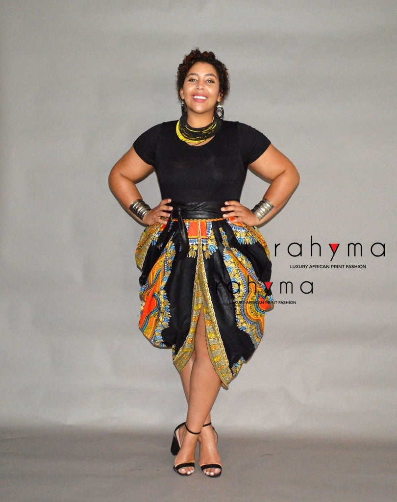 Dashiki pleated harem Skirt - Rahyma