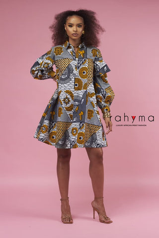 Rahyma Patch Jeans Dress