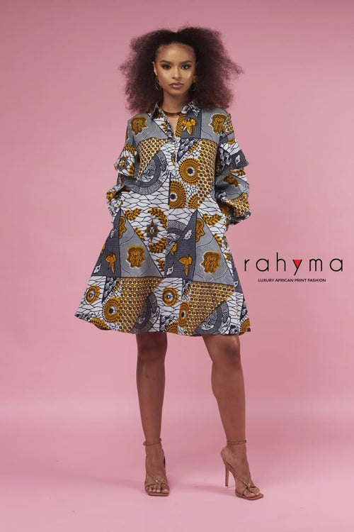 Diana Short Kaftan Dress - Rahyma