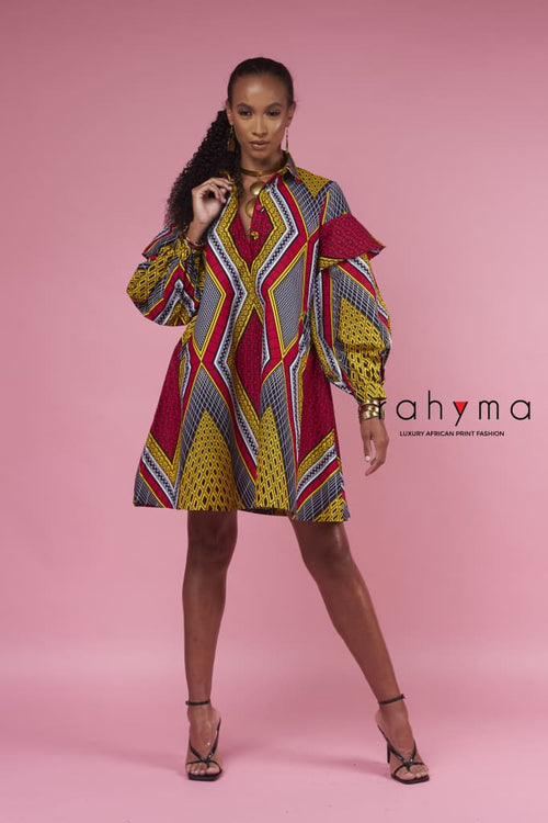 Hope Short Kaftan Dress - Rahyma