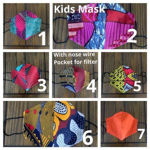 (Kids Mask) 3 Cotton Face Mask - Rahyma