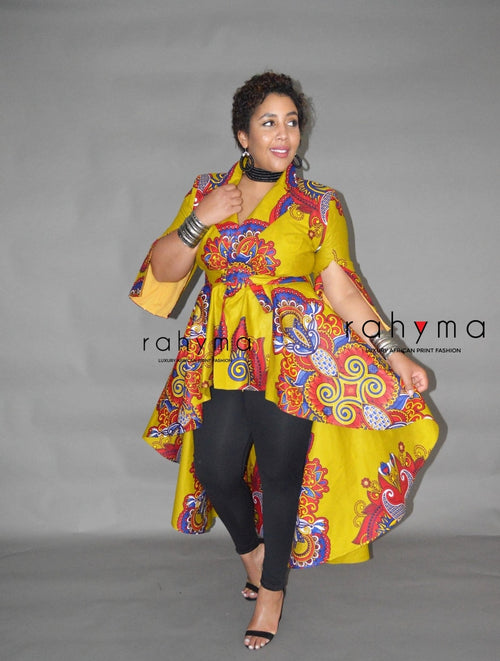 Mustard Chi high-Low Jacket (FINAL SALE) - Rahyma