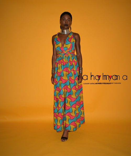 Pink-Yellow Infinity  Maxi Dress - Rahyma