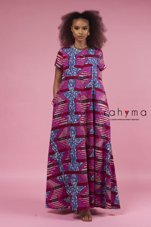 Pinky Kaftan Dress - Rahyma