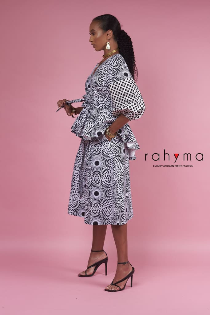 Polka Dot Wrap Blouse - Rahyma