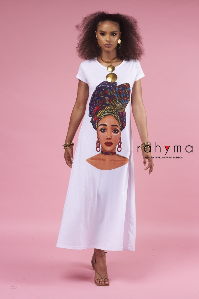 Queen Makeda T-Shirt| MAXI Dress - Rahyma