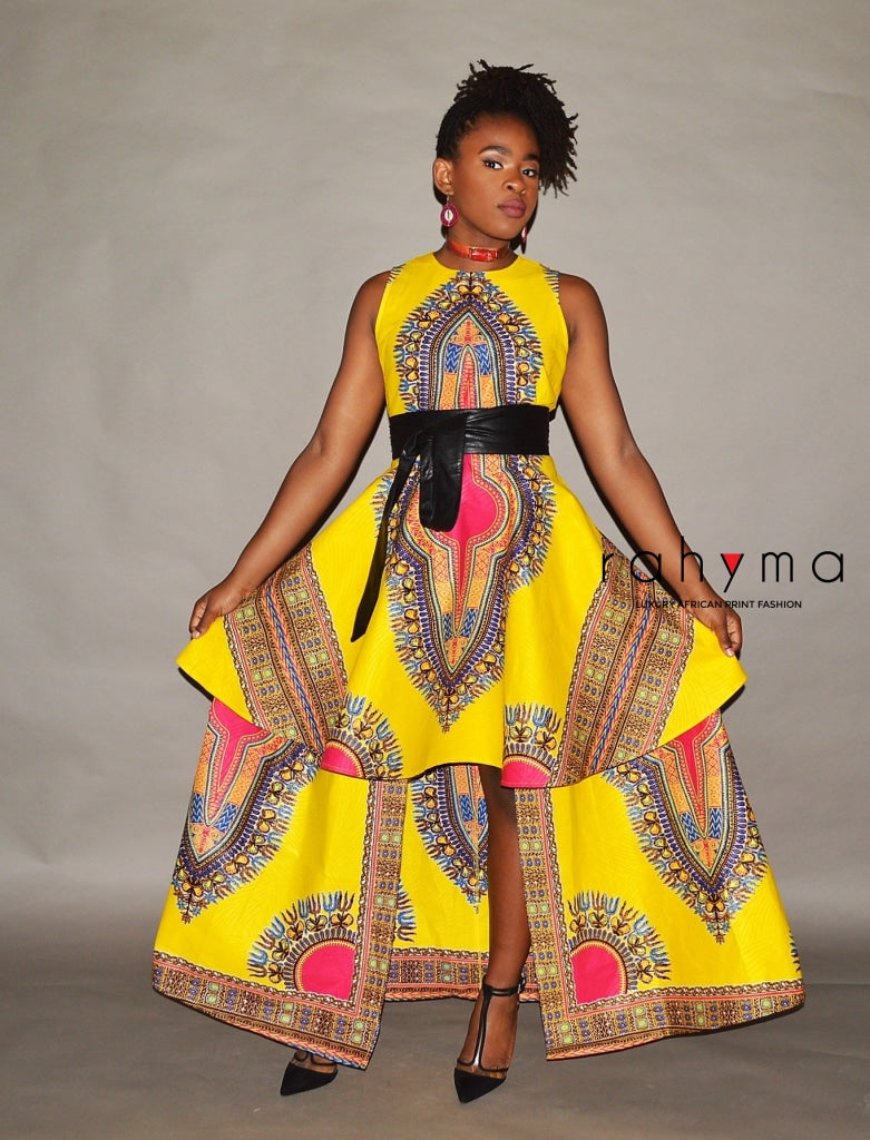 Rahyma Yellow Dashiki Dress - Rahyma