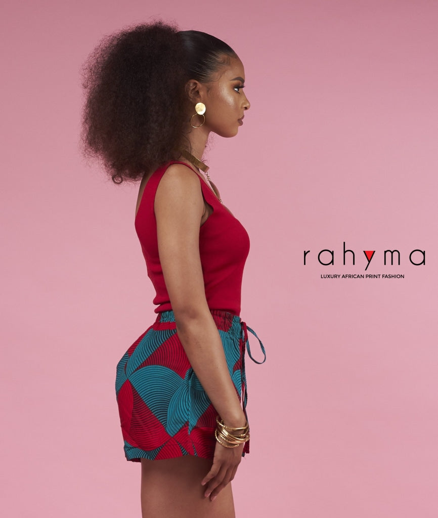 Red Grace Shorts - Rahyma