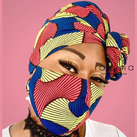 Reversible Mask and Head-wrap Set Chizom.