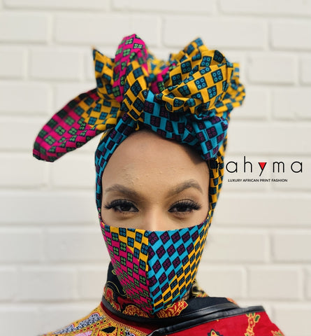 Reversible Mask and Headwrap Set Shade