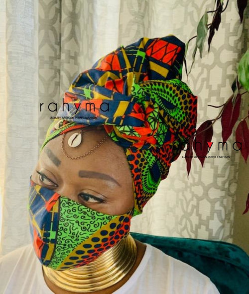 Reversible Mask and Head-wrap Set Jezreel - Rahyma