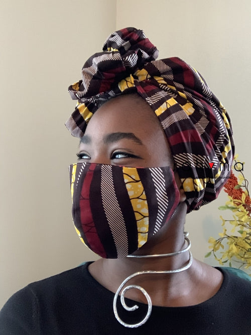 Reversible Mask and Headwrap Set Abbaya - Rahyma