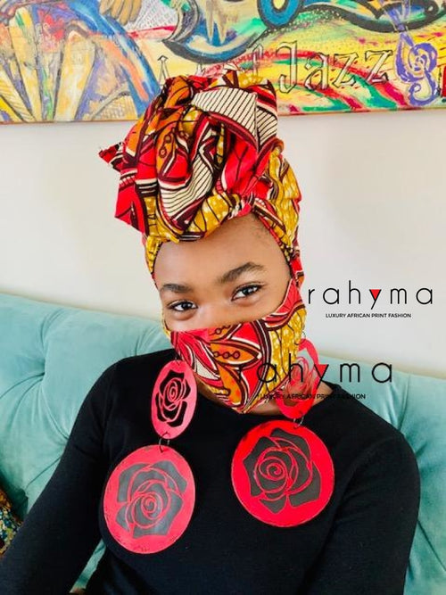 Reversible Mask and Headwrap Set Amina - Rahyma