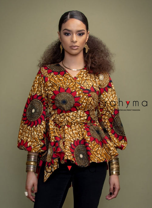 Sunset- Wrap Blouse - Rahyma