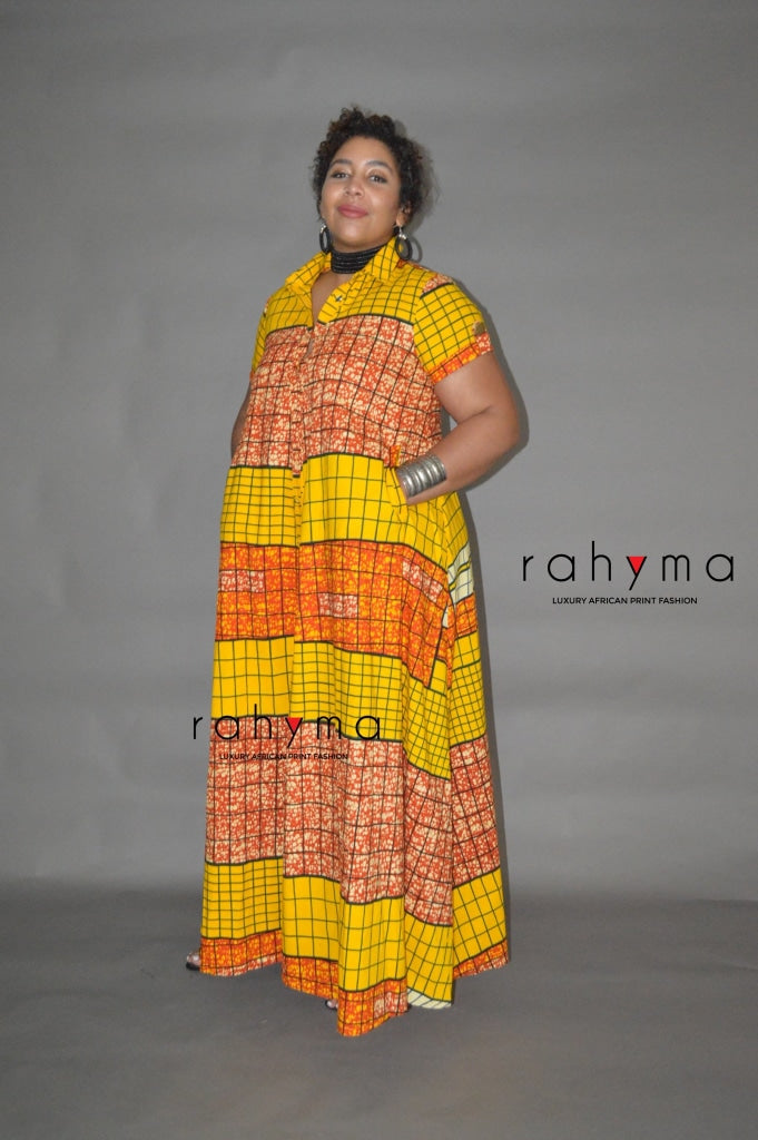 Tawa Yellow Kaftan dress - Rahyma