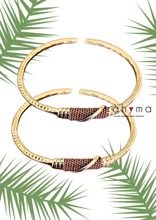 Two Choko Brass/Copper bracelets - Rahyma