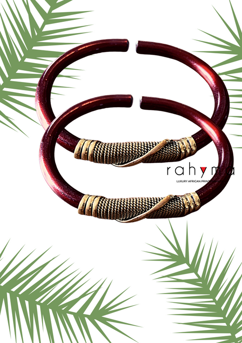 Two Red Choko Copper Bracelets - Rahyma