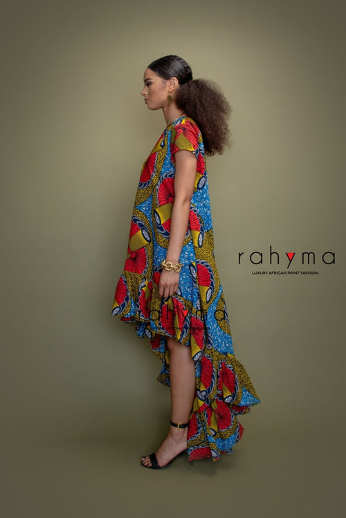 Zara Multi-color Water Fall Dress - Rahyma