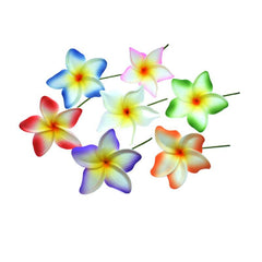 Foam Pointed Tip Plumeria Hair Pick - Leilanis Attic