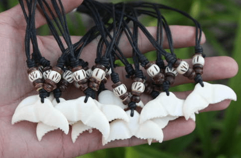 Bone Maori Whale Tail Coconut Shell Necklace - Leilanis Attic