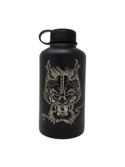 Laser Engraved Dragon Face Flask