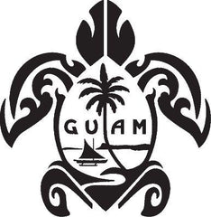 Laser Engraved Guam Honu Flask