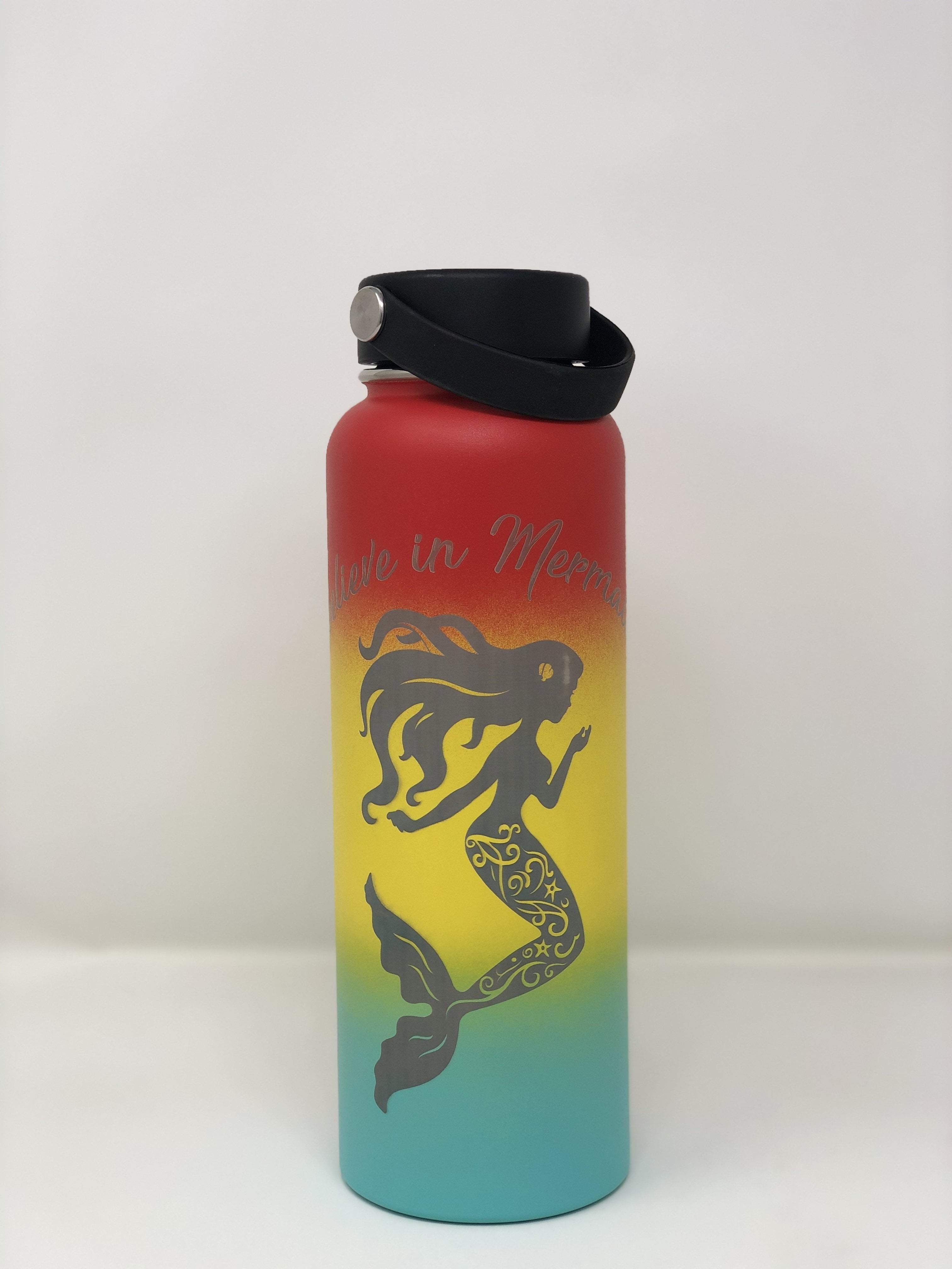 Laser Engraved I Believe in Mermaids Flask - Leilanis Attic