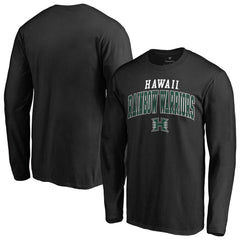Hawaii Warriors Fanatics Branded Team Logo Square Up Long Sleeve T-Shirt
