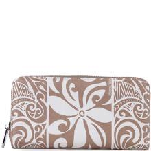 Happy Wahine Kaylee Tapa Tiare Brown Wallet