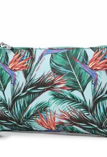 Happy Wahine Melody Bird of Paradise Blue Wristlet