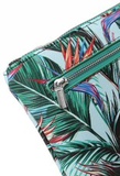Happy Wahine Melody Bird of Paradise Blue Wristlet - Leilanis Attic