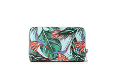 Happy Wahine Chloe Bird of Paradise Blue Wallet