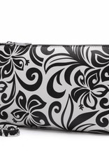 Happy Wahine Melody Hibiscus Black Wristlet